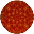 rug #970497 | round orange traditional rug