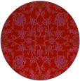 rug #970505 | round red traditional rug