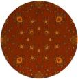 rug #970509   round red-orange traditional rug