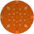 rug #970513 | round red-orange traditional rug