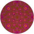 rug #970517 | round red-orange damask rug
