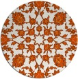 rug #970521 | round red-orange damask rug