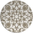 rug #970545 | round white traditional rug