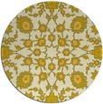 rug #970549 | round yellow traditional rug