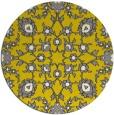 rug #970561 | round yellow damask rug