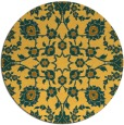 rug #970565 | round yellow traditional rug