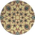 rug #970569 | round yellow damask rug