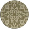 rug #970577 | round light-green damask rug