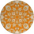 rug #970597 | round light-orange damask rug