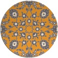 rug #970601 | round light-orange damask rug