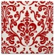 rug #971213 | square red traditional rug