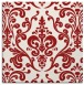 rug #971221 | square red traditional rug