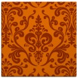 rug #971229 | square red-orange traditional rug