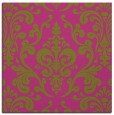 rug #971301 | square light-green traditional rug