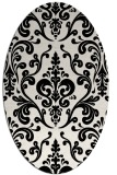 rug #971329 | oval white traditional rug