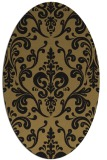rug #971353 | oval brown rug