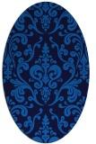 rug #971357 | oval blue rug