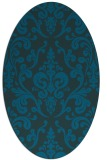 rug #971393 | oval blue traditional rug