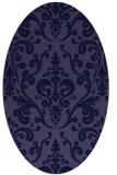 rug #971413 | oval blue-violet traditional rug