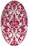 rug #971445   oval red traditional rug