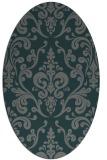 rug #971457 | oval green traditional rug
