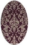 rug #971485 | oval pink rug