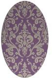 rug #971509 | oval purple traditional rug