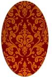 rug #971525 | oval red-orange traditional rug