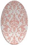 rug #971553 | oval white rug