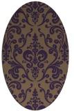 rug #971565   oval purple traditional rug