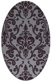 rug #971569 | oval purple rug