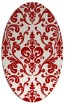rug #971573 | oval red traditional rug
