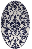 rug #971575 | oval traditional rug