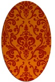 rug #971577 | oval red traditional rug