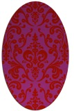 rug #971585 | oval red traditional rug