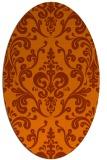 rug #971589   oval red-orange traditional rug
