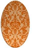 rug #971593   oval red-orange traditional rug