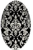 rug #971605 | oval white traditional rug