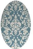 rug #971621 | oval white traditional rug