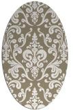 rug #971625 | oval beige popular rug