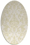 rug #971633 | oval yellow traditional rug
