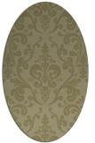 rug #971657 | oval light-green rug