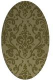 rug #971665 | oval light-green rug
