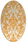 rug #971681 | oval white traditional rug