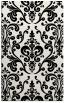 rug #971689 |  black traditional rug