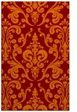 rug #971885 |  red-orange traditional rug