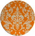 rug #972045 | round orange traditional rug