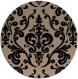 rug #972057 | round beige traditional rug