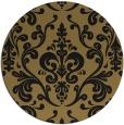 rug #972073 | round brown rug