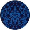 rug #972077   round blue traditional rug